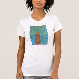 Cross Stitched Palm Tree Shirt by Julia Hanna