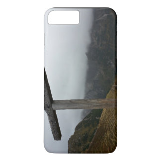 Cross Themed, Tall, Wooden Cross Engraved With Nam iPhone 7 Plus Case