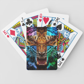 Cross tiger - angry tiger - tiger face - tiger wil bicycle playing cards