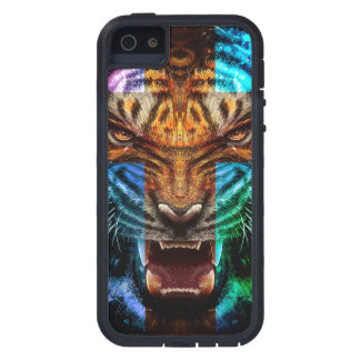 Cross tiger - angry tiger - tiger face - tiger wil case for the iPhone 5