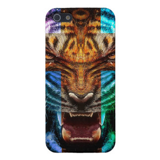 Cross tiger - angry tiger - tiger face - tiger wil cover for iPhone 5/5S