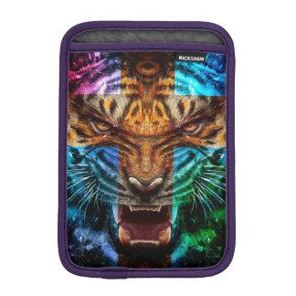 Cross tiger - angry tiger - tiger face - tiger wil iPad mini sleeve