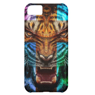 Cross tiger - angry tiger - tiger face - tiger wil iPhone 5C cover