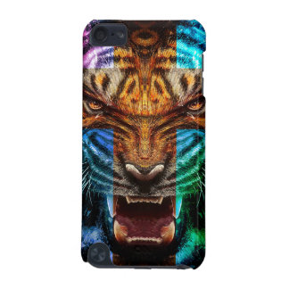 Cross tiger - angry tiger - tiger face - tiger wil iPod touch (5th generation) cases
