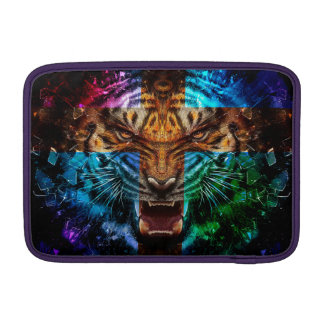 Cross tiger - angry tiger - tiger face - tiger wil sleeve for MacBook air