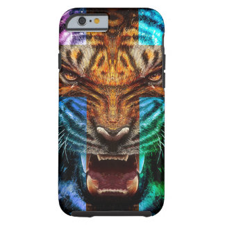 Cross tiger - angry tiger - tiger face - tiger wil tough iPhone 6 case