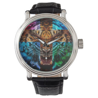 Cross tiger - angry tiger - tiger face - tiger wil watch