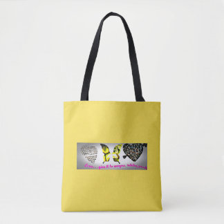 cross tote bag-positive world
