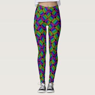 Cross Weave Rainbow Leggings