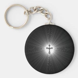 cross-white keychain
