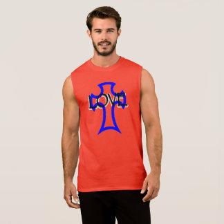 cross with love written tank top