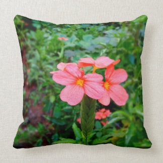 Crossandras-Have a delightful & fresh Good morning Throw Pillow