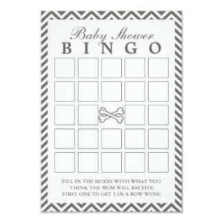 Crossbones Chevron Stripes Baby Shower Bingo Cards
