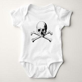 Crossbones skull baby bodysuit