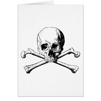 Crossbones skull card