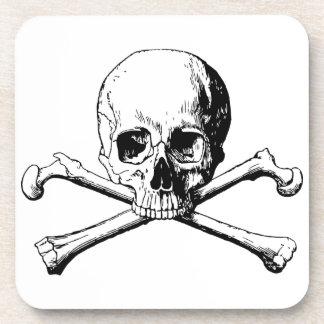 Crossbones skull coaster