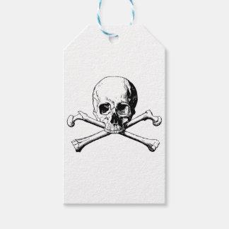 Crossbones skull gift tags