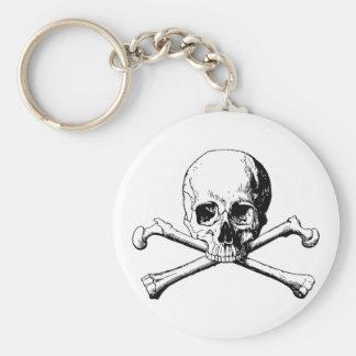 Crossbones skull keychain