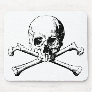 Crossbones skull mouse pad