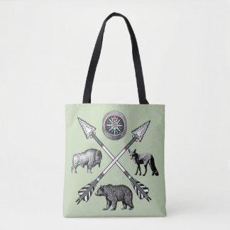 Crossed Arrows And Wildlife Tote Bag