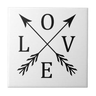 Crossed Arrows Love Design Tile