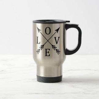 Crossed Arrows Love Design Travel Mug