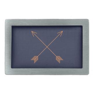 Crossed Arrows Rectangular Belt Buckles