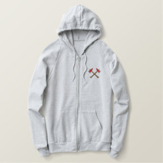 Crossed Axes Embroidered Hoodie