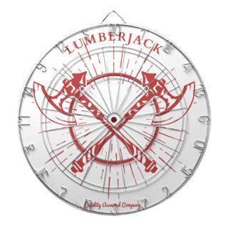 Crossed Axes Lumberjack Graphic Tee Dartboard