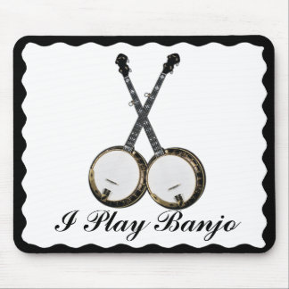 CROSSED BANJOS-MOUSEPAD MOUSE PAD