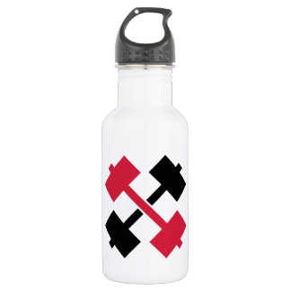 Crossed Barbells 532 Ml Water Bottle