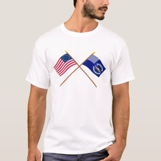 Crossed Betsy Ross and 2nd Regiment Light Dragoons T-Shirt