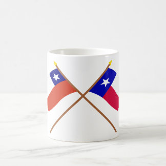 Crossed Chile and Texas Flags Coffee Mug