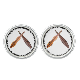 CROSSED DULCIMERS -CUFFLINKS CUFFLINKS