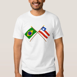 Crossed Flags of Brazil and Bahia T-shirt