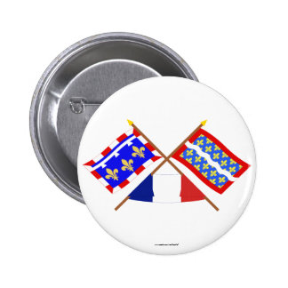 Crossed flags of Centre and Cher Button