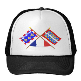 Crossed flags of Centre and Cher Hats