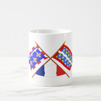 Crossed flags of Centre and Cher Classic White Coffee Mug