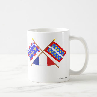 Crossed flags of Centre and Cher Coffee Mug