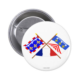 Crossed flags of Centre and Eure-et-Loir Pin