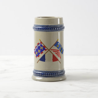 Crossed flags of Centre and Eure-et-Loir Coffee Mugs