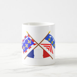 Crossed flags of Centre and Eure-et-Loir Mugs