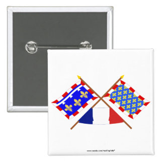 Crossed flags of Centre and Indre-et-Loire Pins