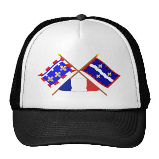 Crossed flags of Centre and Indre Mesh Hat