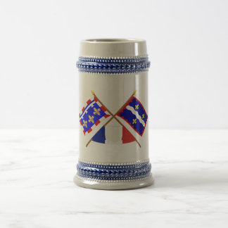 Crossed flags of Centre and Indre Coffee Mug