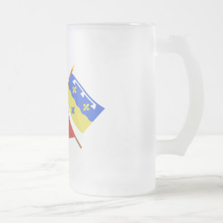 Crossed flags of Centre and Loir-et-Cher Coffee Mugs