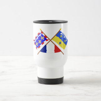 Crossed flags of Centre and Loir-et-Cher Mugs