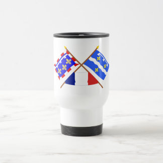 Crossed flags of Centre and Loiret Mugs