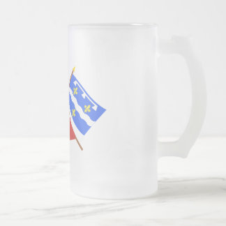 Crossed flags of Centre and Loiret Coffee Mugs