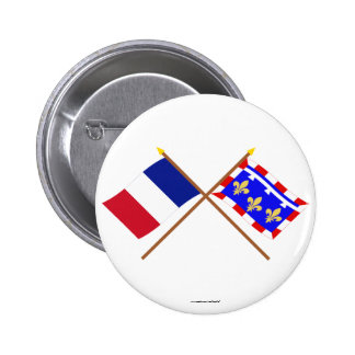 Crossed flags of France and Centre Pin